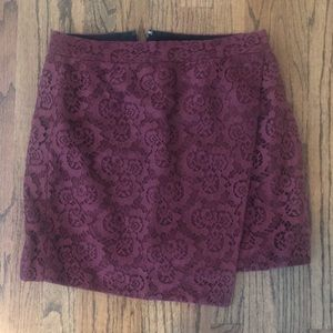 Madewell Lace Wrap Skirt